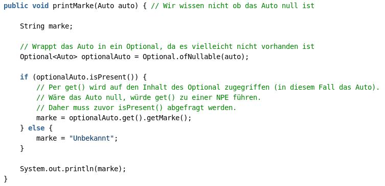 Java Optionals