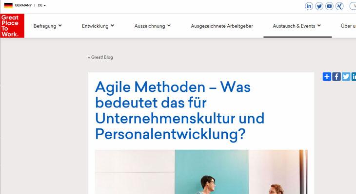 Screenshot Gastbeitrag im Blog des Great Place to Work-Instituts