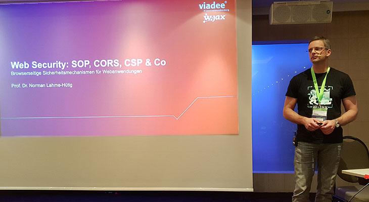 Vortrag auf der W-Jax: Web Security - SOP, CORS, CSP & Co.