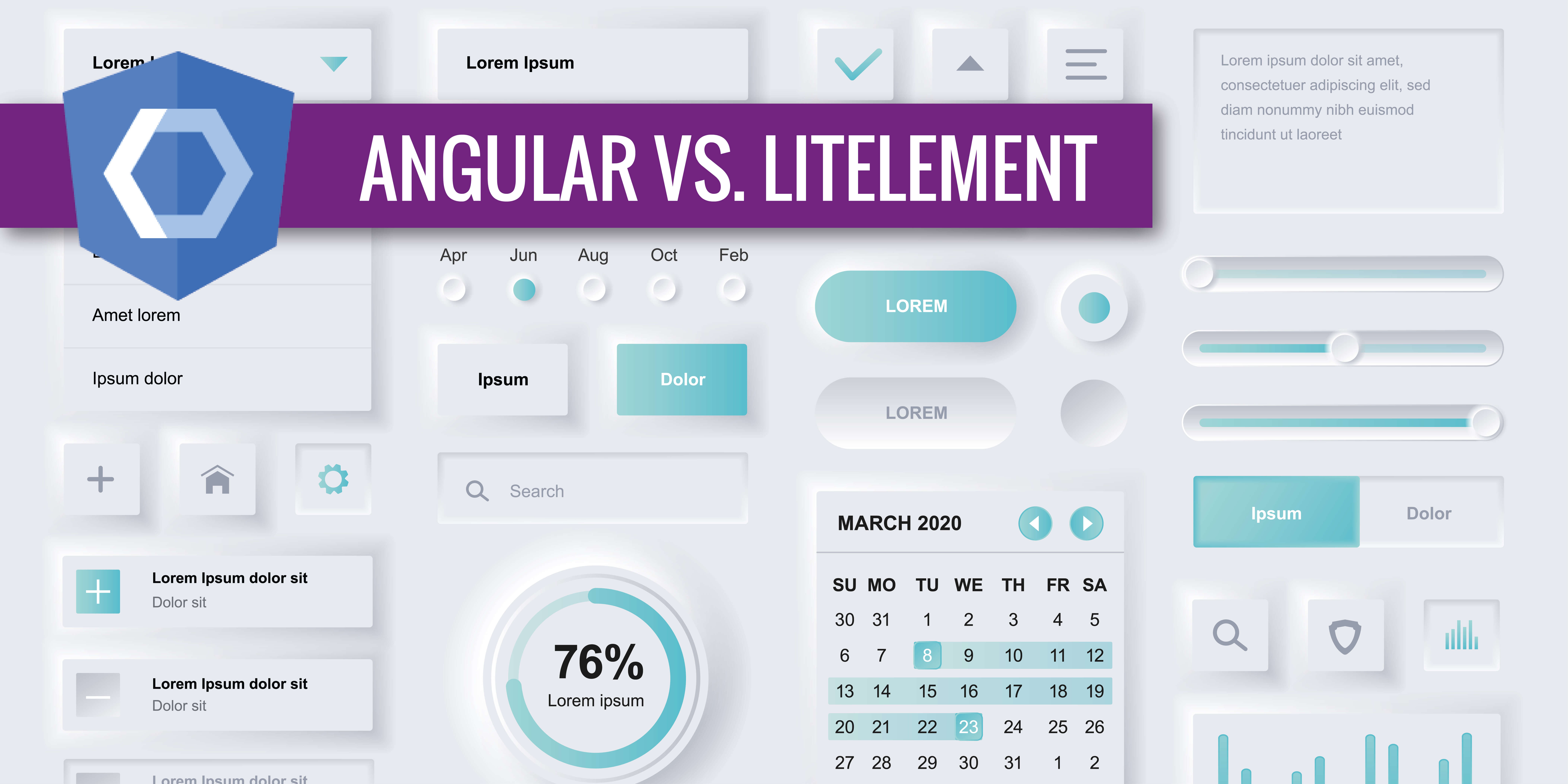 Angular Elements und LitElements im Vergleich