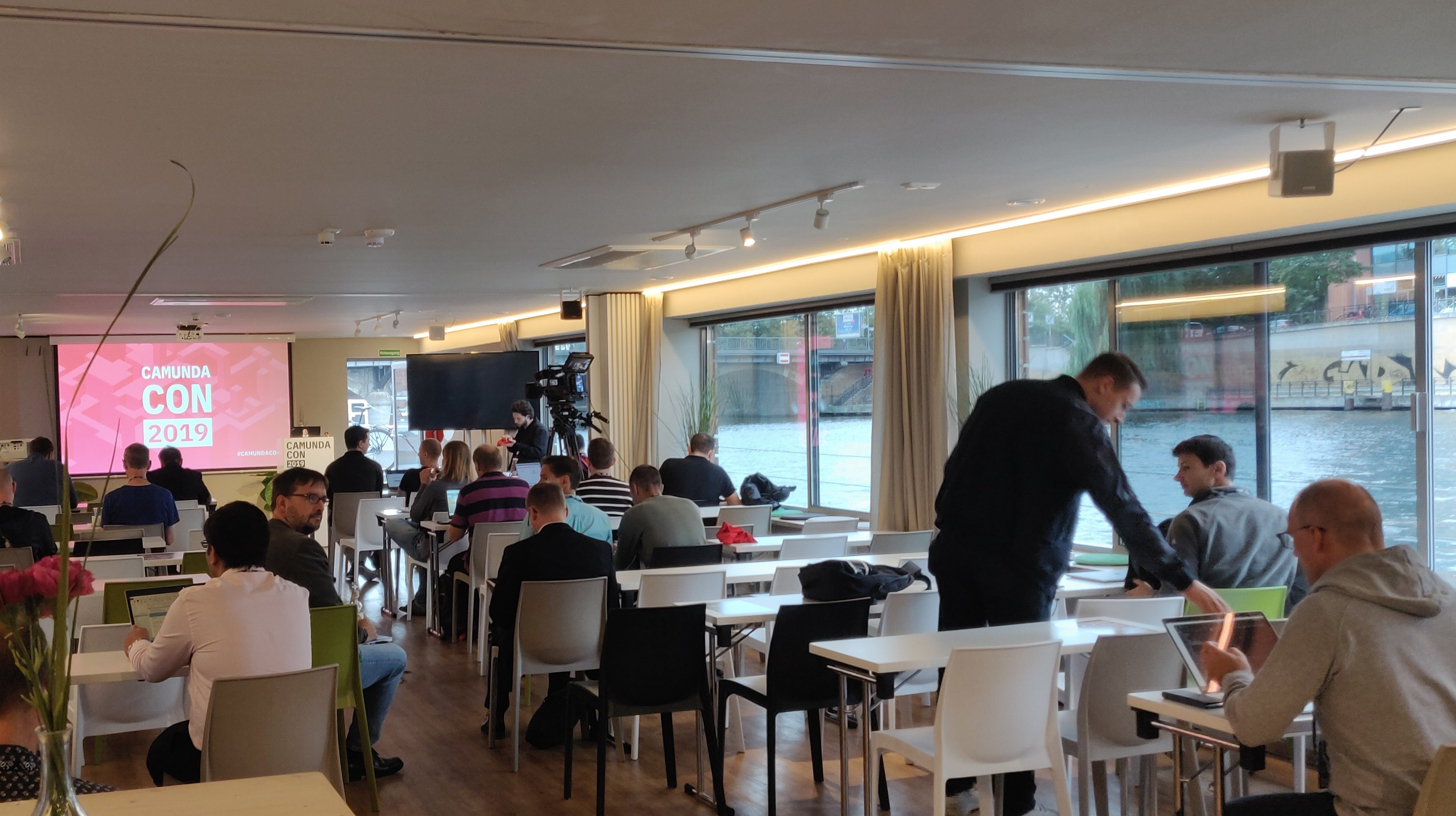 Code-Workshops auf dem CamundaCon-Boot